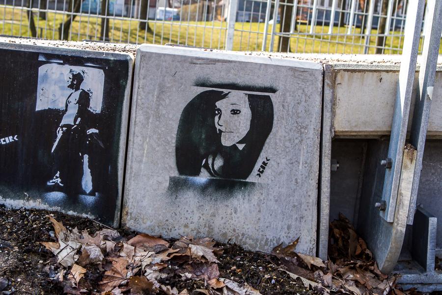 Graffiti an der Dreisam in Freiburg